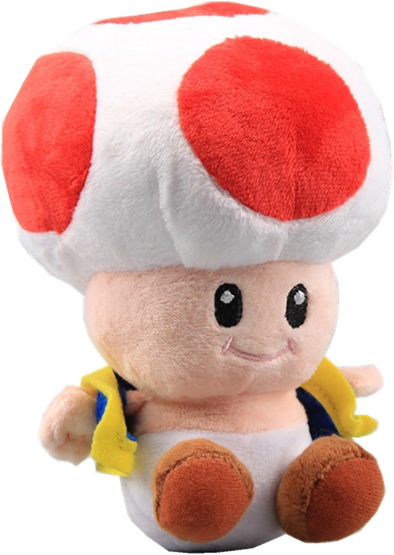 Amazon Com Uiuoutoy Super Mario Bros Red Toad Plush Mushroom 7