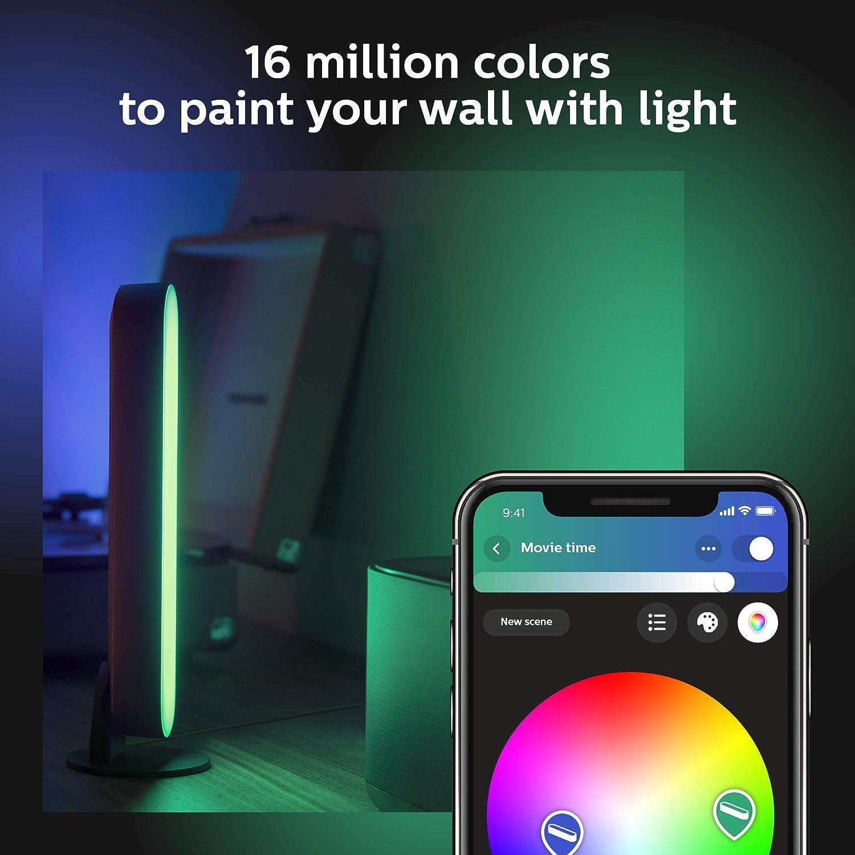 wei/ß//schwarz Philips Hue White and Color Ambiance Play Lightbar Doppelpack steuerbar via App kompatibel mit  Alexa bis zu 16 Millionen Farben dimmbar