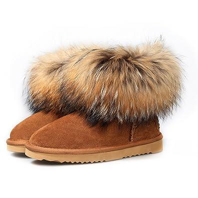 Ausland Chaussures fourrées de mouton pour homme, Bottes