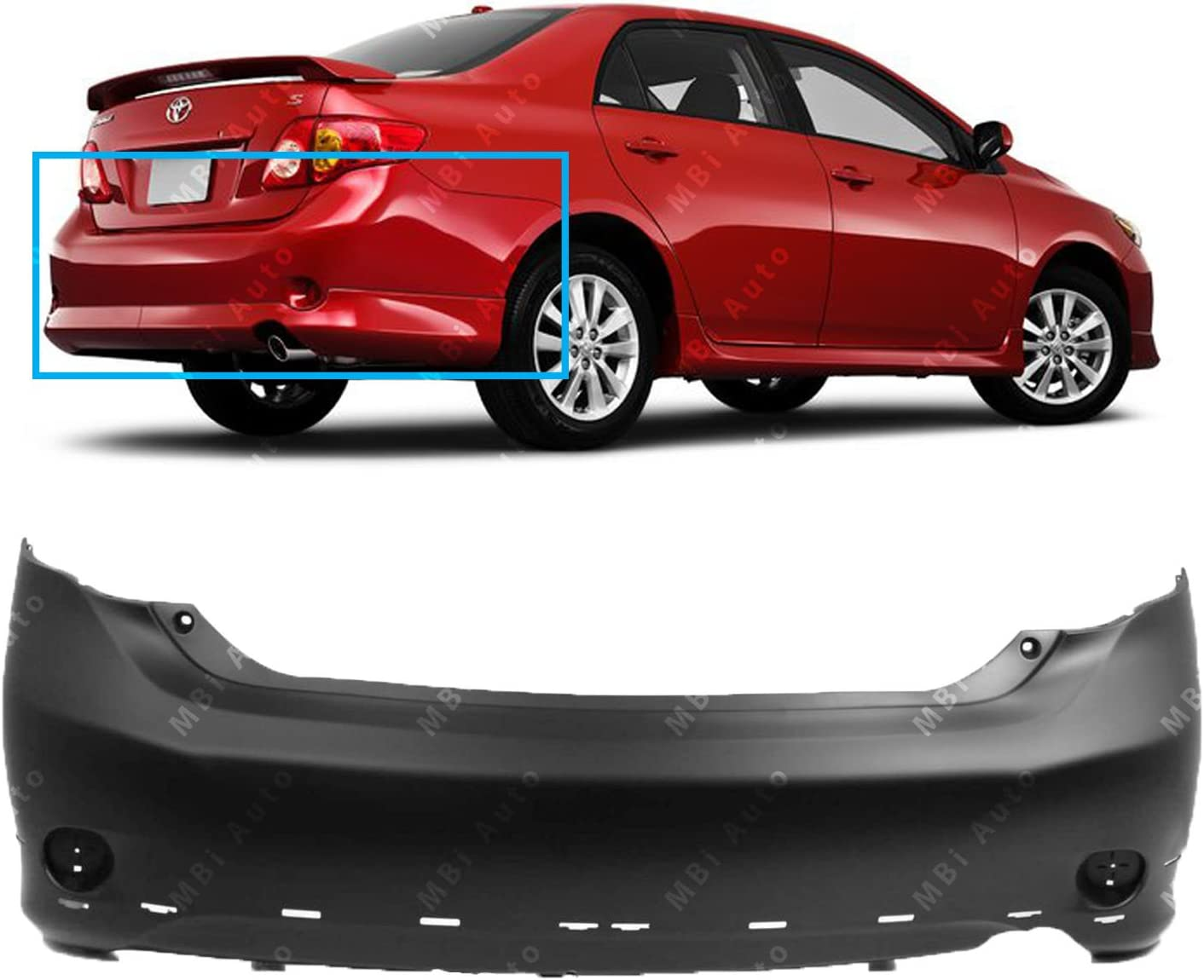 XRS NEW Primered Front Bumper Cover for 2009 2010 Toyota Corolla Sedan S