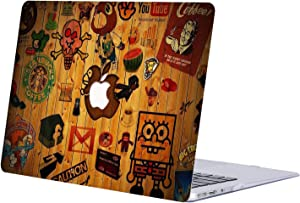 AJYX MacBook Air 13 inch Case 2018 Release A1932, Anime Series Plastic Hard Case Laptop Shell Cover for MacBook Air 13 inch with Retina Display - JR138 Spongebob