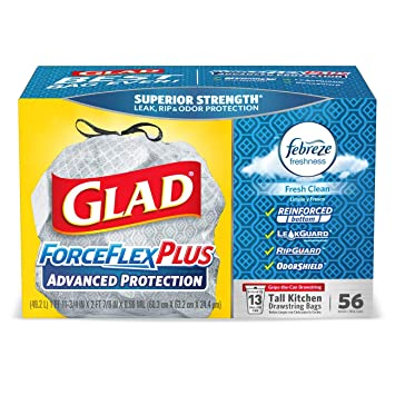 Amazon.com: Bolsas de basura con cordón para cocina de Glad ...