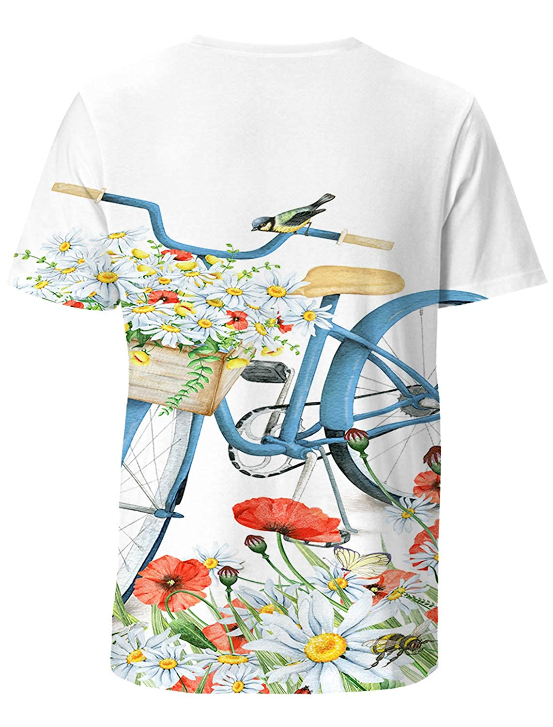 SunShine Day Romantic Mens Everyday ComfortSoft Short Sleeve T-Shirt for Workout Running Sports