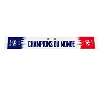 f93e7e3f91f Equipe de FRANCE de football Echarpe FFF - Champion du Monde 2018 -  Collection Officielle Taille