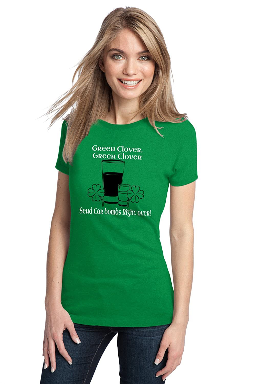 Amazon.com: FUNNY IRISH CAR BOMB TEE Ladies' T-shirt / St. Patty's ...