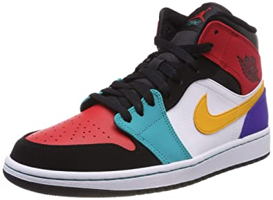 buy popular 17dd3 be1eb Jordan Air 1 Mid (White University Red Black, 8)