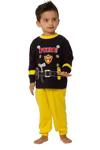 Cool Bombero Disfraz Jefe de Bomberos Larga Pijama 2 3 4 5 años Sam