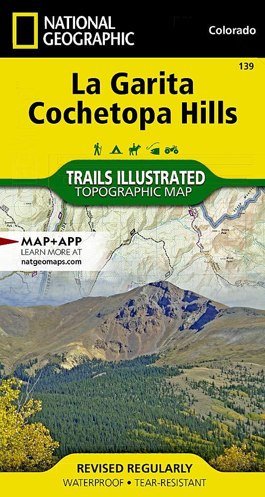La Garita   Cochetopa Hills  National Geographic Trails Illustrated Colorado  National Geographic Trails Illustrated Map Band 139