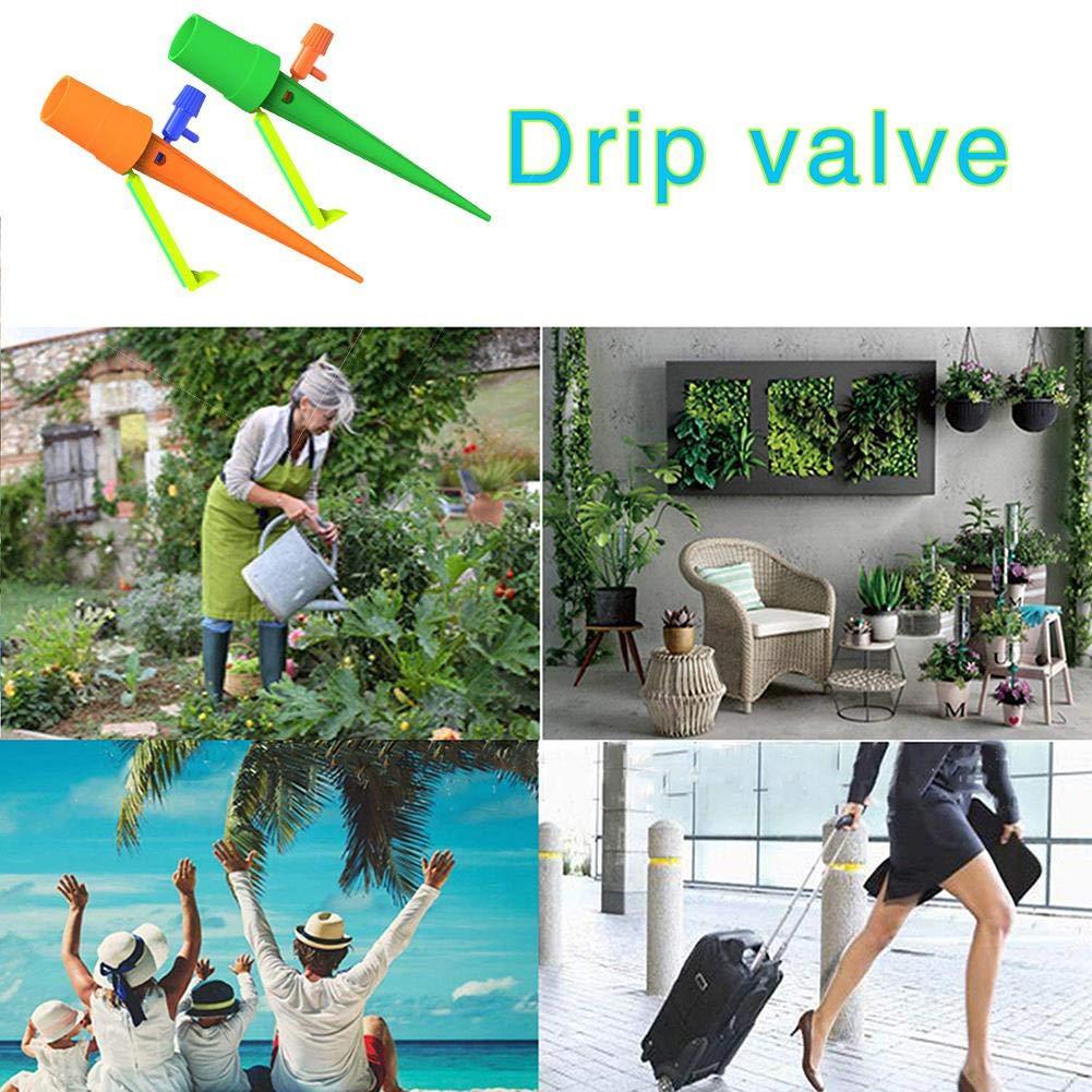 12 St/ück Plant Self Watering Spikes Automatische Pflanzenbew/ässerung Ger/ät Topfpflanzen Gie/ßwerkzeug Steuerventil Schalten Pflegen Sie Ihre Pflanzen Und Blumen