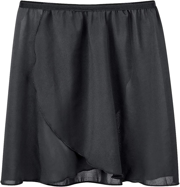NewChao Ballet Chiffon Wrap Skirts Dance Skirts for Women Girls White Black