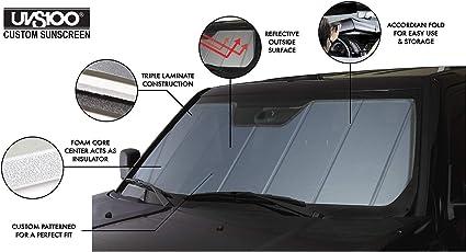 Covercraft UV11327BL Blue Metallic UVS 100 Custom Fit Sunscreen for Select Infiniti Q50 Models 1 Pack Laminate Material