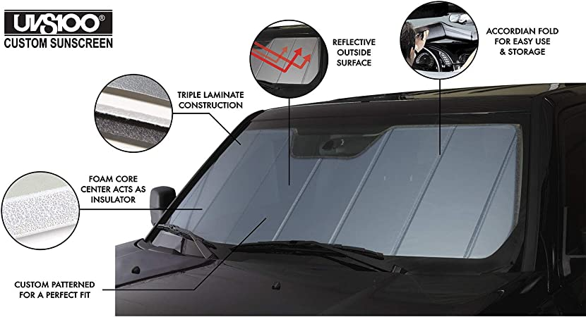 Radiant Barrier Material Covercraft Flex Shade Custom Fit Windshield Shade for Select Subaru Legacy Models UR11304 Silver