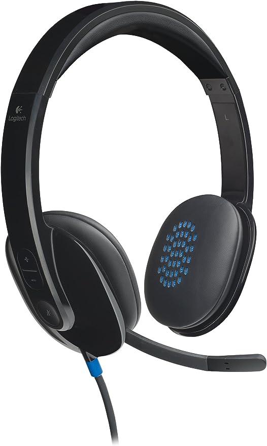 Logitech H540 Auriculares con Cable, Sonido Estéreo con