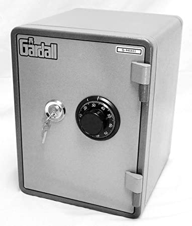 Gardall MS119-G-CK w One Hour Vertical Microwave Style Fire Safe with Key Combination Lock, Grey