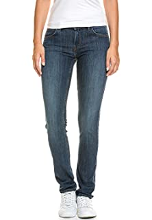 Lee Damen 5 Pocket Jeans Slim Fit Stretch Boyfriend Hüft Hose Röhrenjeans 1ea163f83f