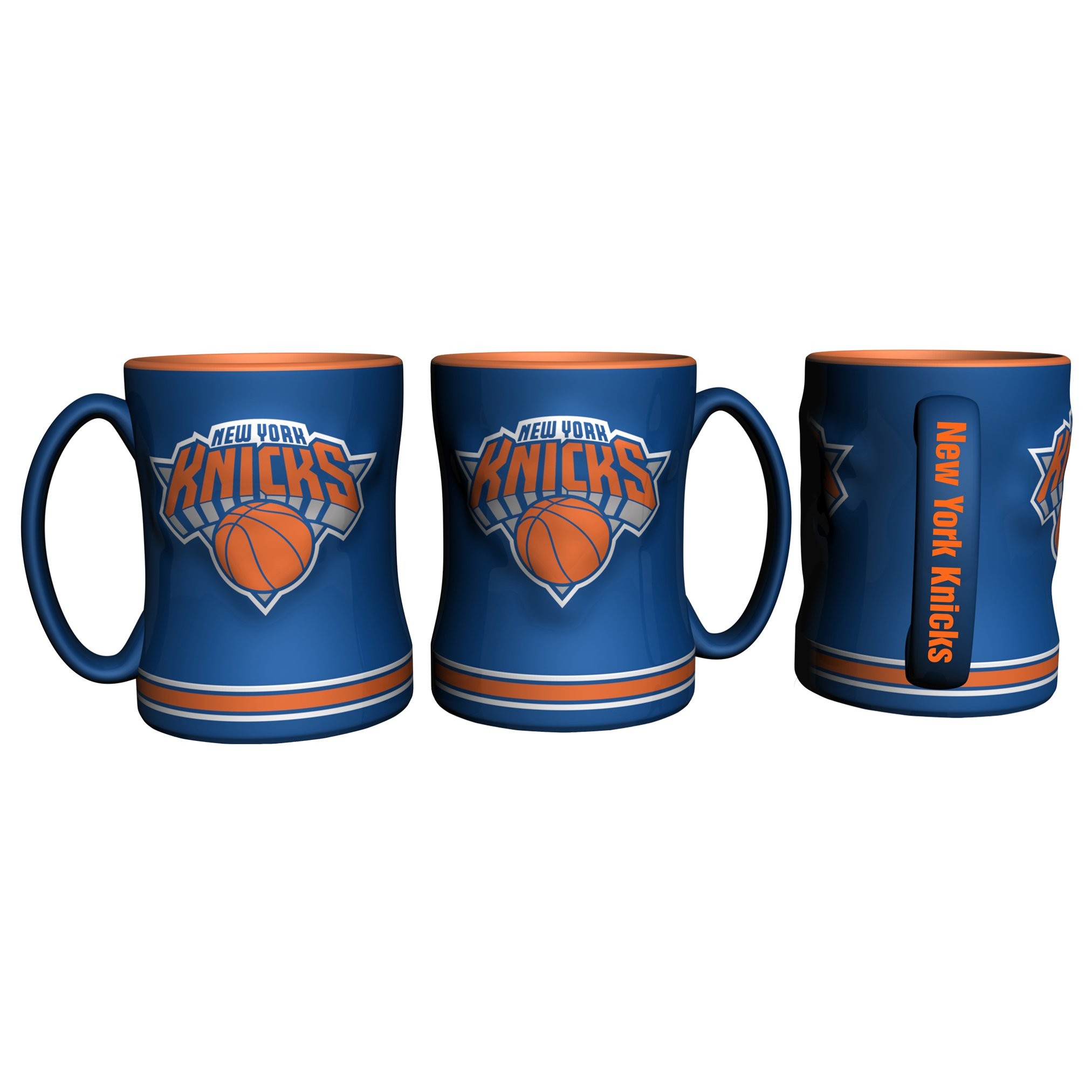 Boelter Brands New York Knicks Official NBA Coffee Mug 14oz Sculpted Relief by 319305 by Boelter Brands