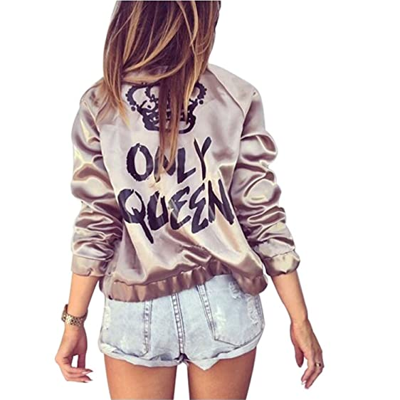 Havadi Coats Female Jacket Women Basic Coats Printed Only Queen Golden Chaquetas Mujer Windbreaker Women Casaco