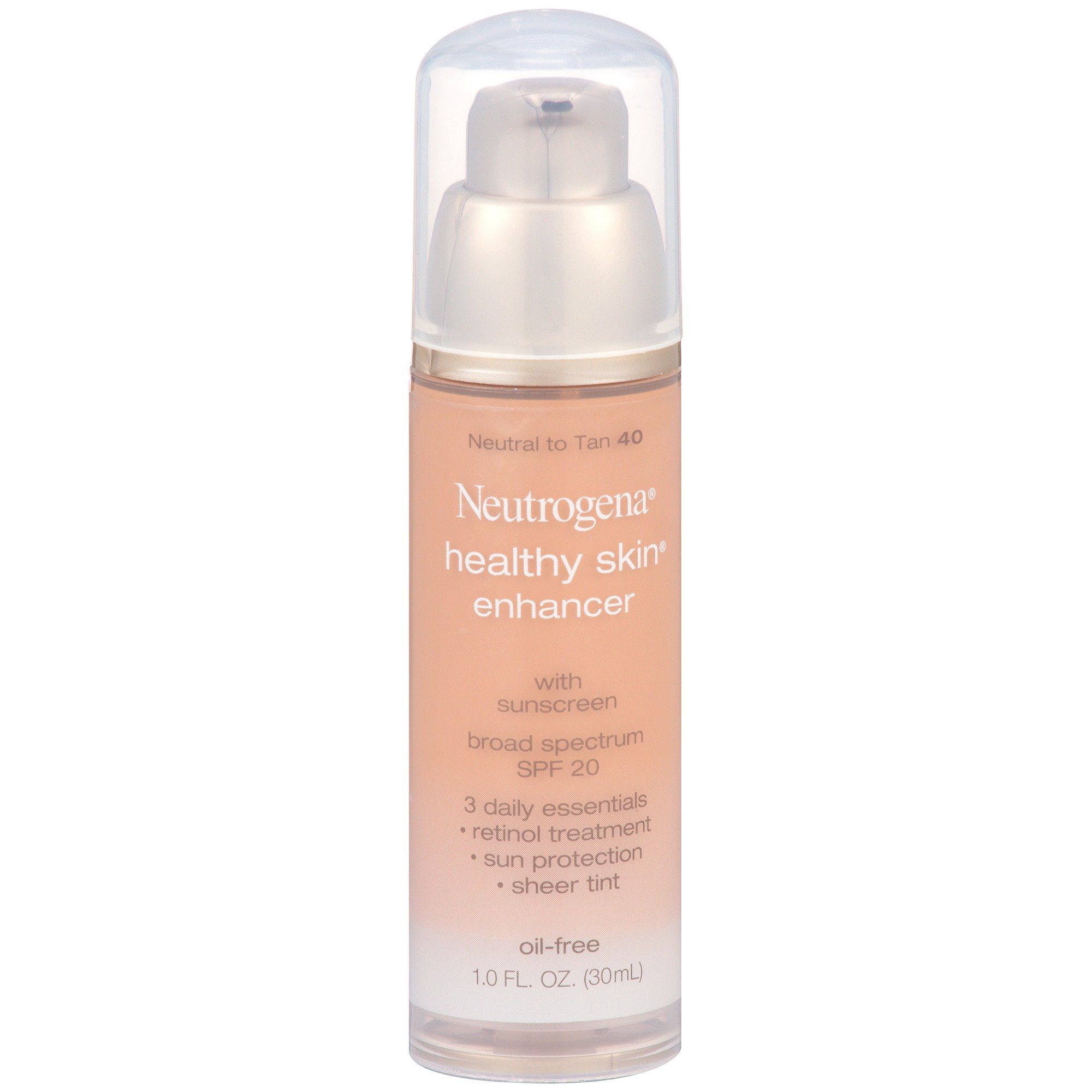 Neutrogena Healthy Skin Enhancer Broad Spectrum Spf 20, Neutral To Tan 40, 1 Oz.