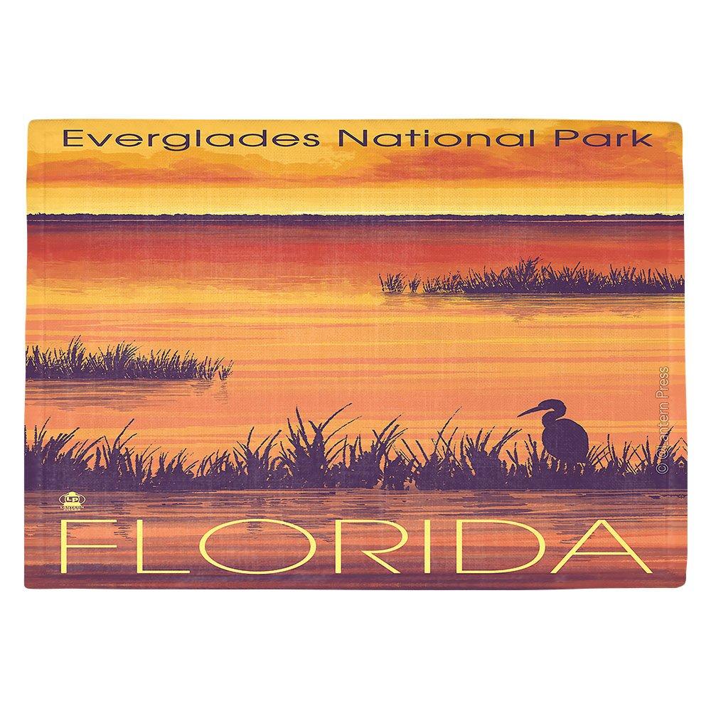 DIANOCHEキッチンPlaceマットbyランタン押しエバーグレーズ国立公園フロリダ Set of 4 Placemats PM-LanternPressEvergladesNatPkFla2 Set of 4 Placemats  B01EXSJCZS