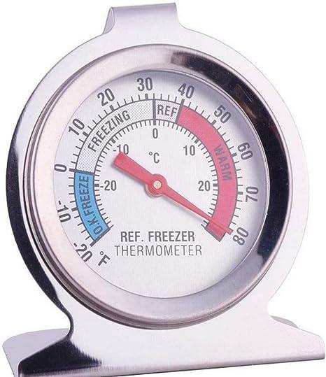 Noondl Termómetro de refrigerador, termómetro impermeable para ...