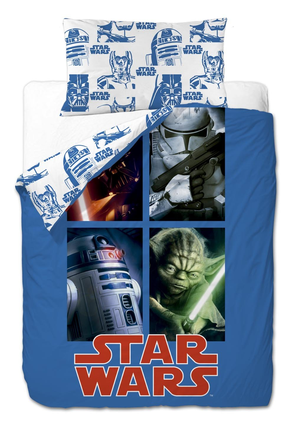 Disney Star Wars Bed Linen 3 Pieces Side: Duvet Cover 155x220 cm