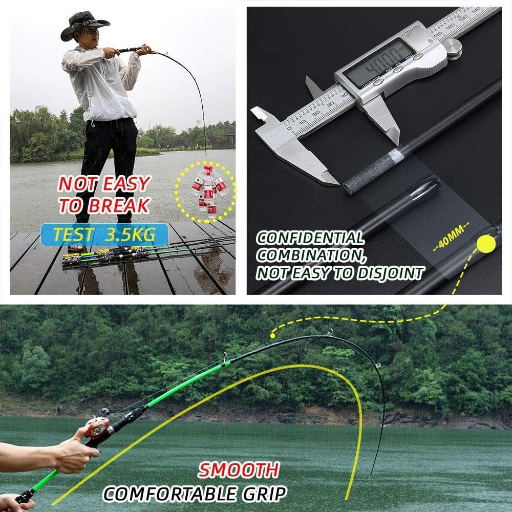 CPAZT Spinning Casting Hand Lure Caña de Pescar Pesca Carbon Pole ...