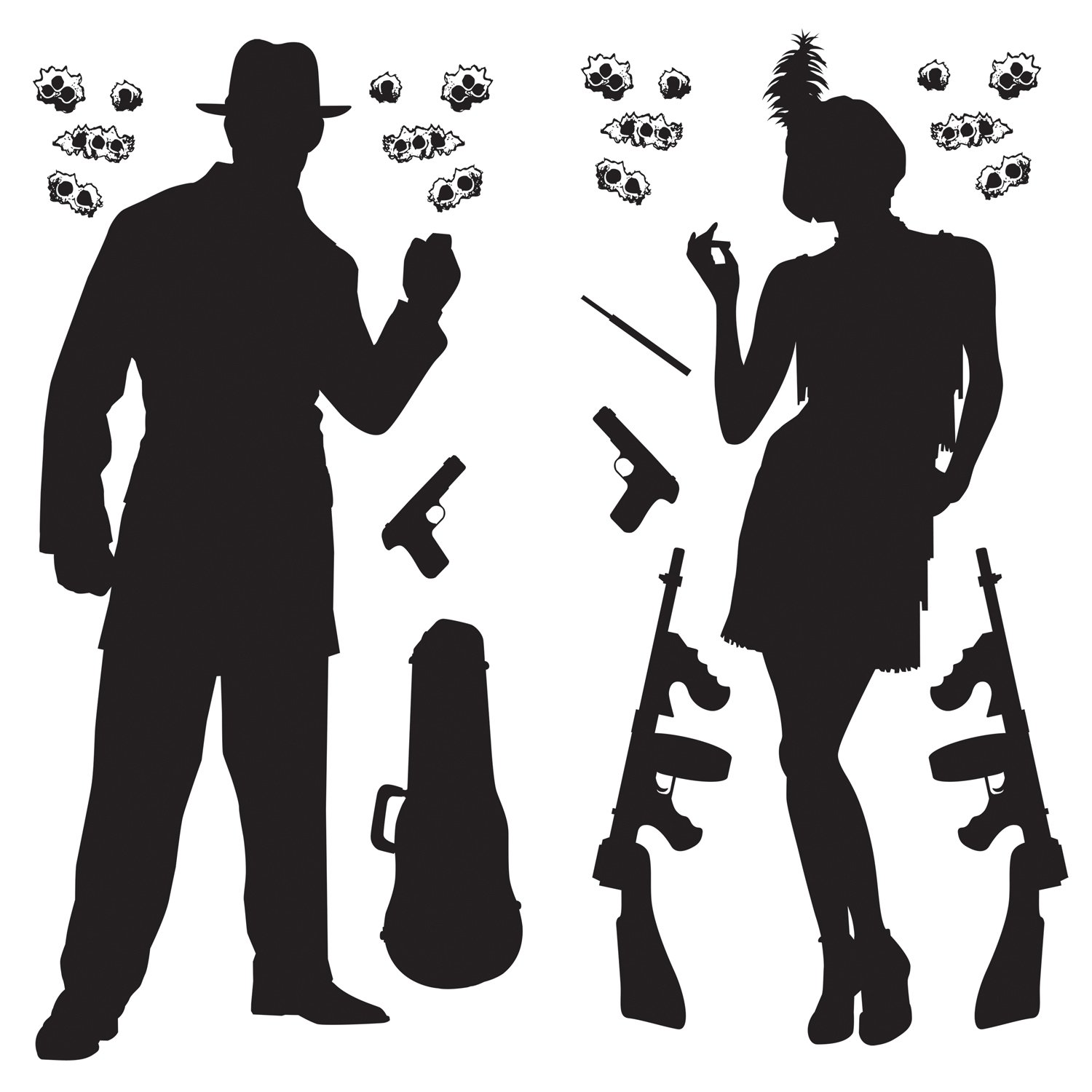 Amazon.com: Gangster Props Party Accessory (1 count) (24/Pkg ...