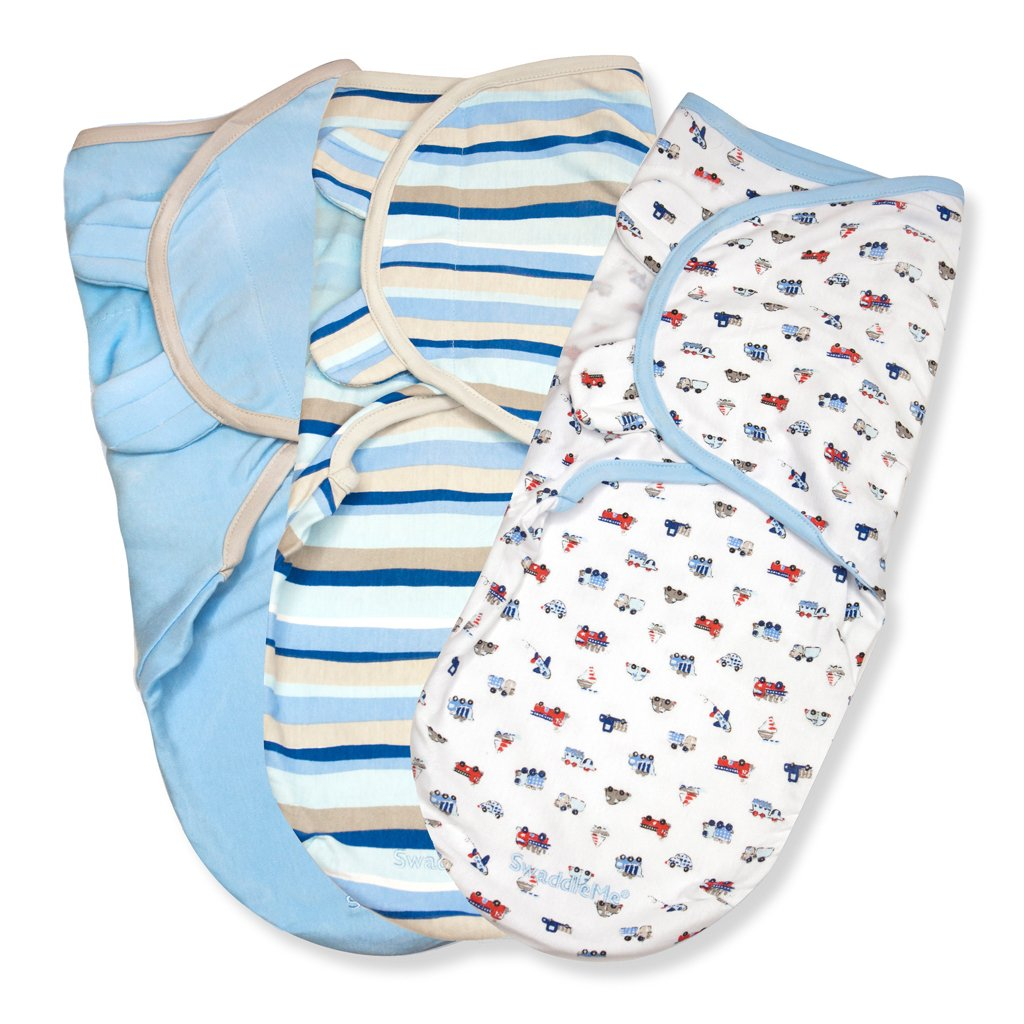 SwaddleMe Cotton, Beep Beep, 3-Pack Summer Infant 71064