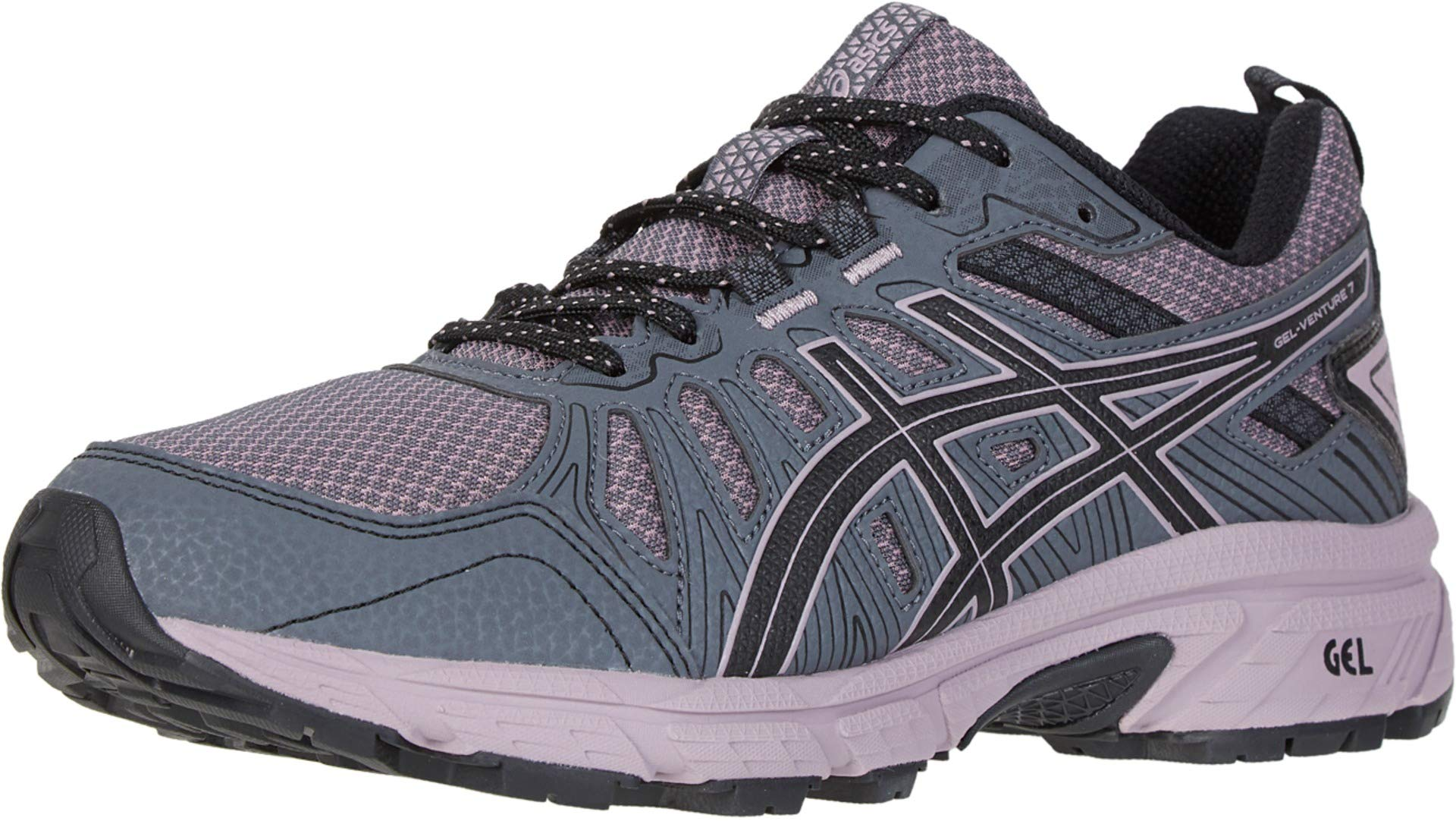 ASICS Women's Gel-Venture 7 Running Shoes, 5.5M, Carrier Grey/Violet Blush by ASICS