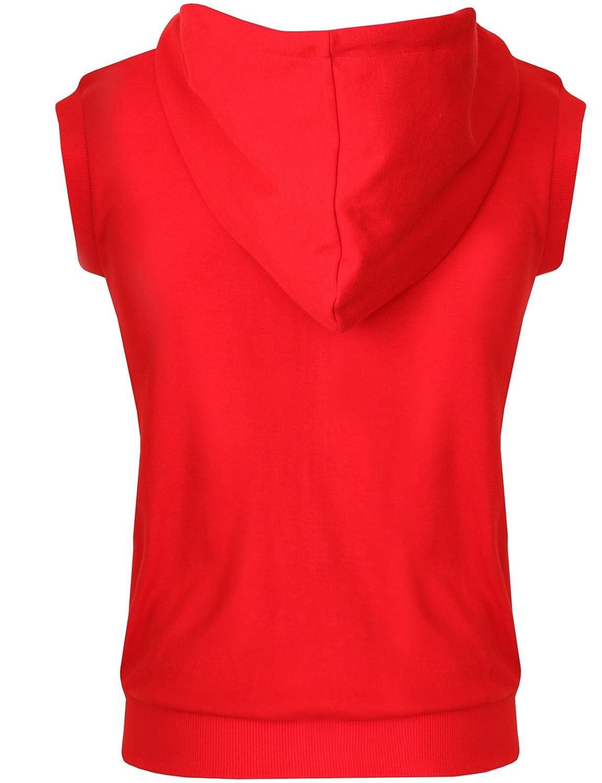 The-Tops Womens Casual Vest Sleeveless Zip up Hoodie