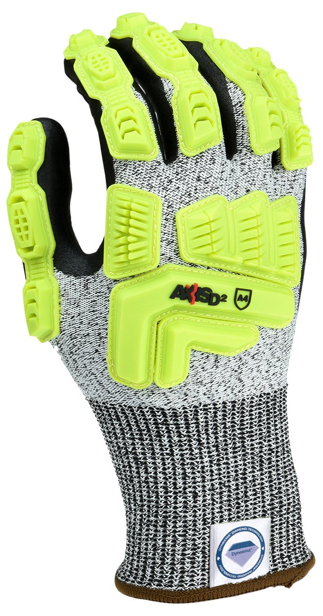 Radians RWGD110L Axis D2 Cut Protection Level A4 Glove(12 Pack), Large