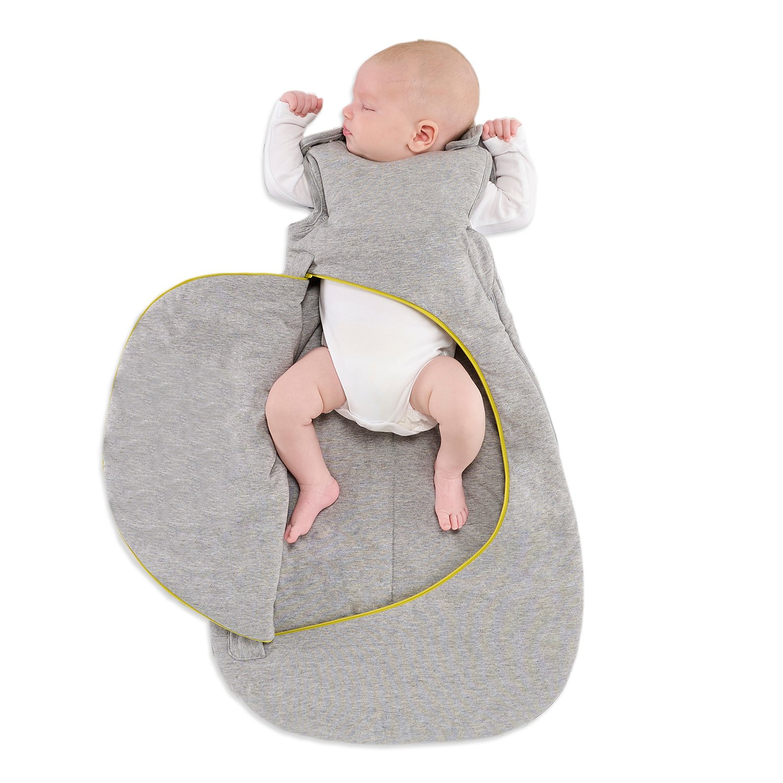 SnuzPouch 0-6m Sleeping Bag 2.5 Tog - Grey Pop Lime Green Sheep Group LTD SW006BA