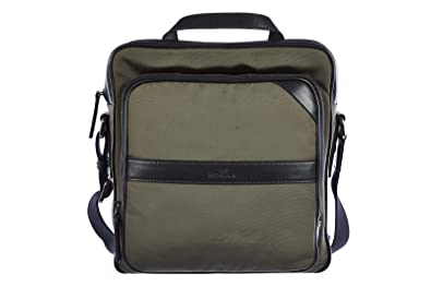 Hogan men s Nylon cross-body messenger shoulder bag green  Amazon.co ... ddd9979fb6797