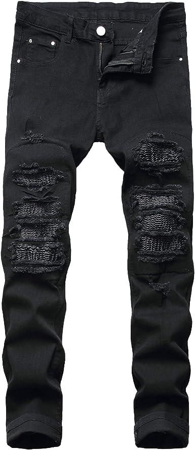 Pants 2021 Hombre Arranco Agujero Jeans Casual Delgado Delgado Azul Negro Jeans Hombres Pantalones De Moda Masculino Hip Hop Denim Amazon Es Ropa Y Accesorios