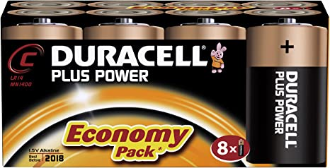 Image of DURACELL C PLUS 8 PACK COPPER/BLACK