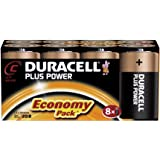 Duracell MN1400 Plus Power Alkaline C Size Batteries (Pack of 8)