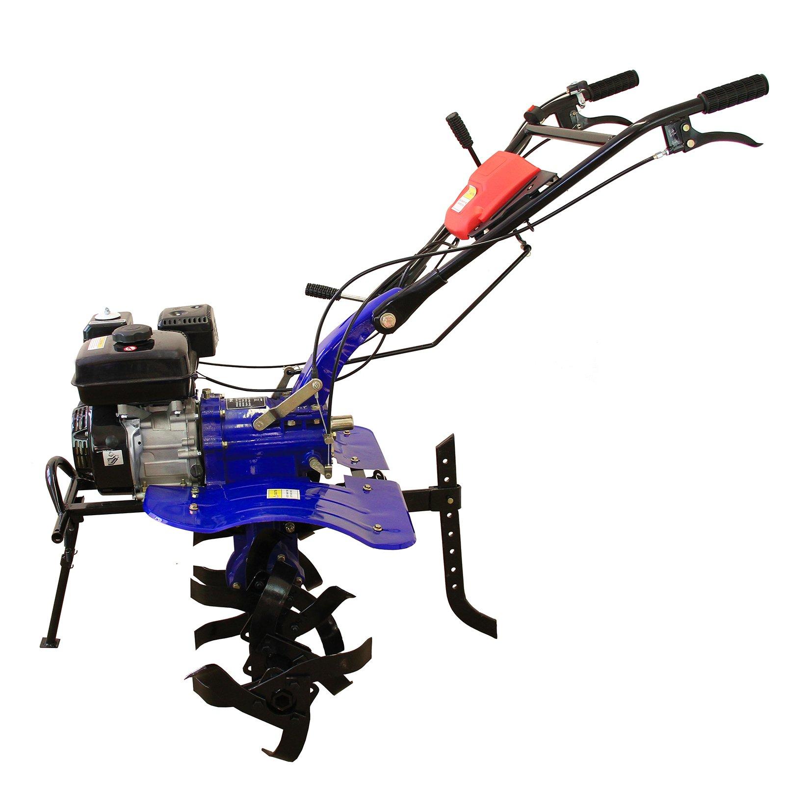 7HP Petrol Tiller Rotavator Cultivator Garden Power Tool 4 Stroke Gasoline 210cc