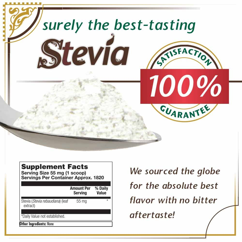 KAL Sure Stevia Extract Powder, 3.5 OZ. | Best-Tasting, Zero Calorie, Low Glycemic | 1820 Servings by KAL (Image #2)