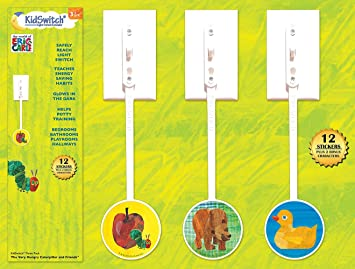 KidSwitch Light Switch Extender 3 Pack   The World Of Eric Carle Edition