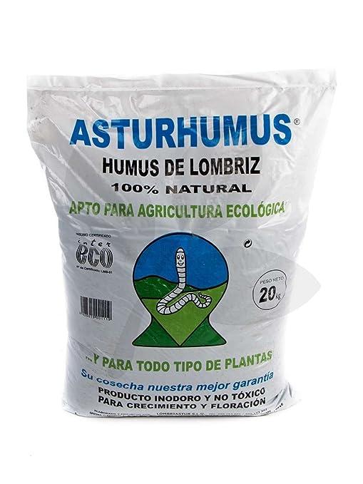 Humus de Lombriz Asturhumus 100% Ecológico - 20 kg: Amazon ...