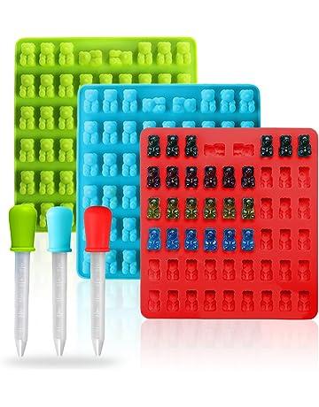 Joyoldelf Moldes de silicona para la producción de ositos de gominola 3 unidades con capacidad para
