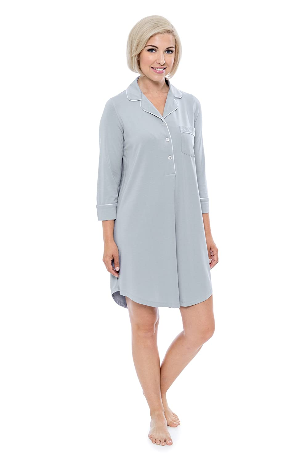 Women's Nightshirt in Bamboo Viscose (Zenrest) Stylish Sleep Shirt by Texere
