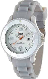 Ice-Watch Womens Quartz Plastic and Silicone Casual Watch, Color:Grey (Model
