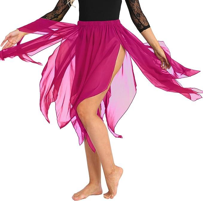 CHICTRY Mujeres Falda Danza del Vientre Ballet Disfraz Traje de ...