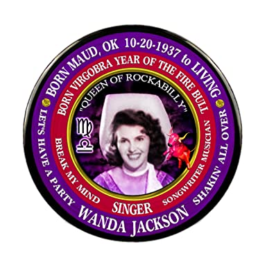 Amazon com: Wanda Jackson Country Singer Pin, Astrology Libra