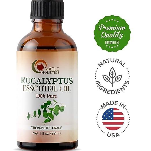 Huile essentielle d'eucalyptus 100% pure Holistics d'érable