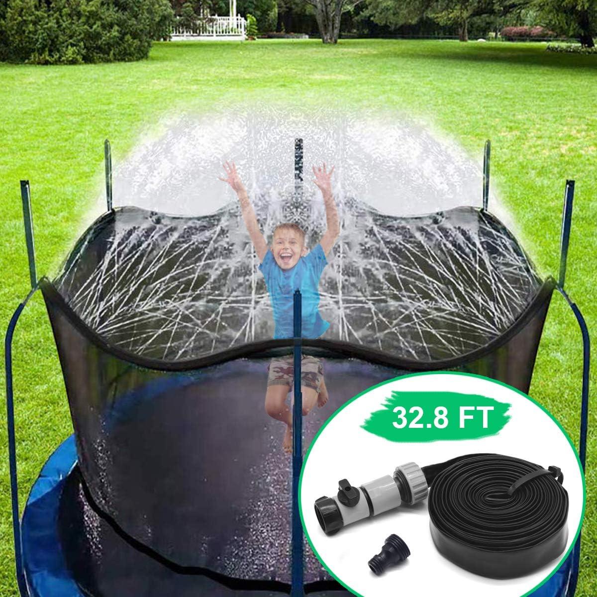 CT Aspersor Trampolín Set,Cama elástica de Jardín Water Play Sprinklers Pipe, Hechos para Sujetar en la Caja de Red de Seguridad del trampolín (10 m)