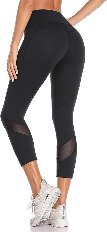 VUTRU Workout Leggings Yoga Capris Mesh Tights Gym Fitness Pants Leggings for Women