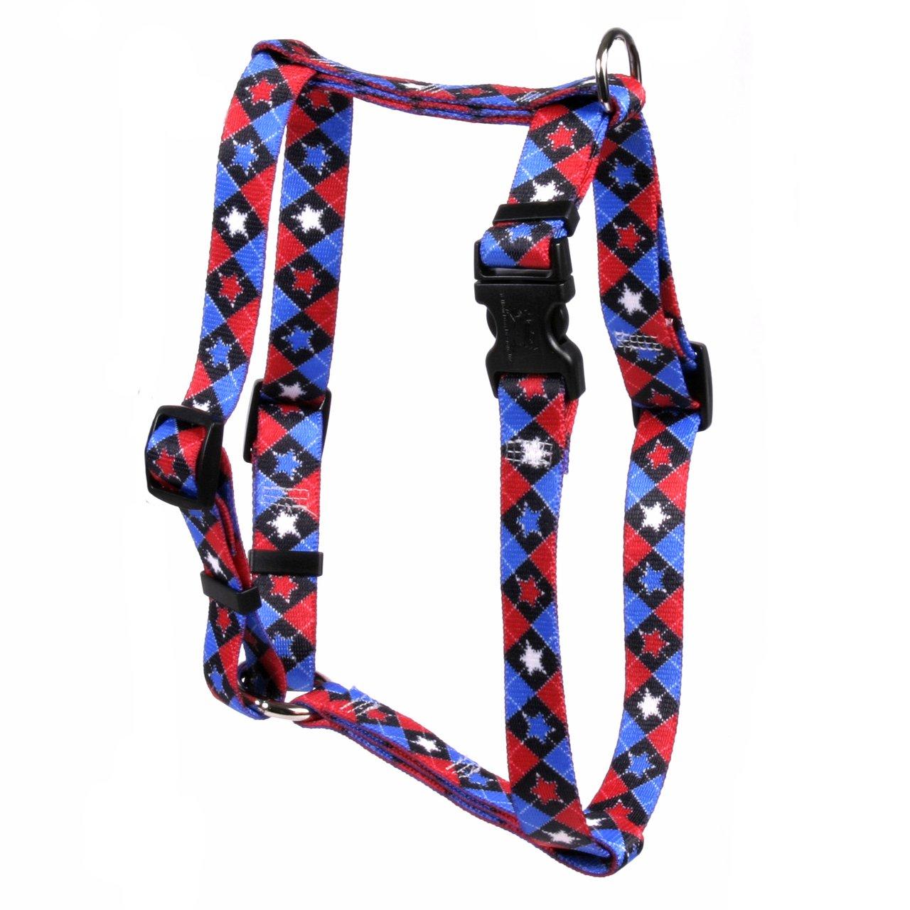 Yellow Dog Design American Argyle Roman Style H Dog Harness, Large