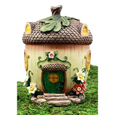 """Ebros Gift Enchanted Fairy Garden Miniature Squirrel Acorn Cottage House Figurine 6.5"""" H Do It Yourself Ideas for Your Home: Kitchen & Dining"""